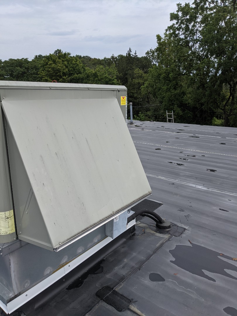 We performed a cooling maintenance on the 3 year old Trane commercial rooftop unit.