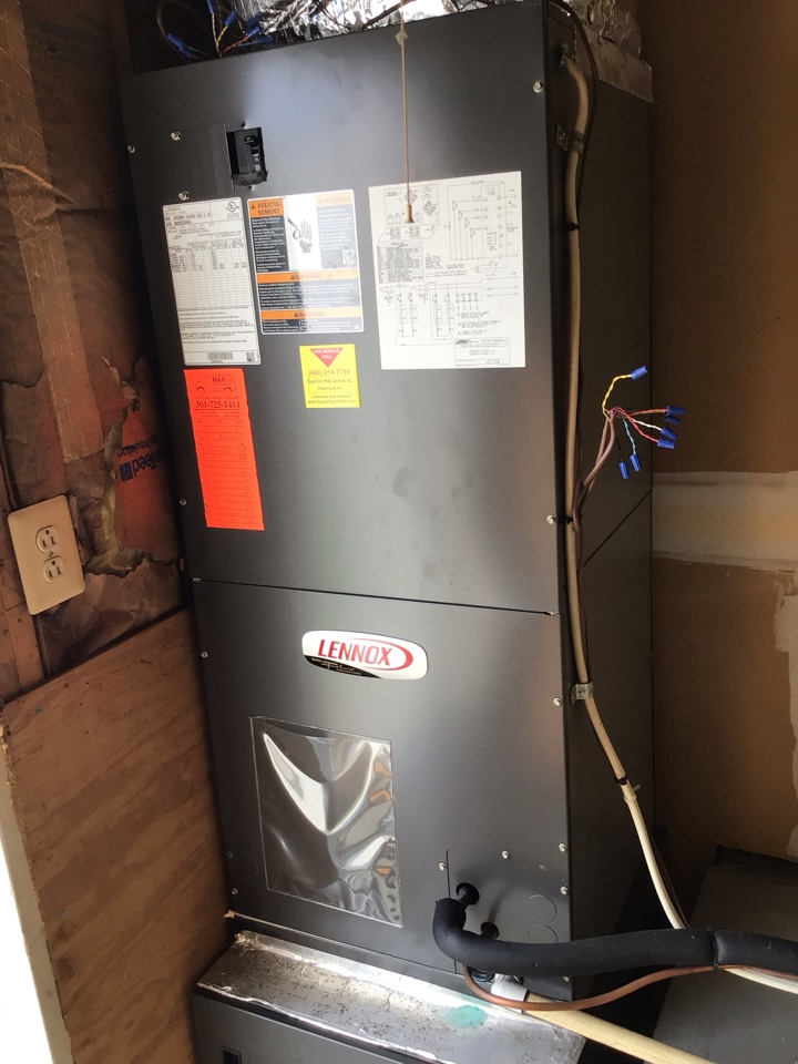 Dan performed cooling maintenance on 15 year old Lennox Air Handler and heat pump condenser.
