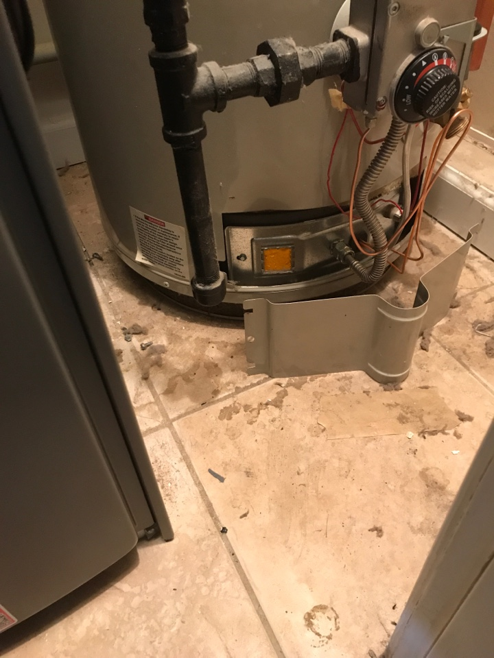 During a water heater repair, Steven fixed pilot light not turning on in 12 year old gas water heater.