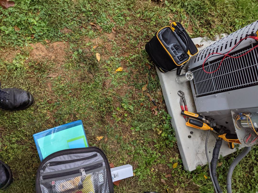 Charlie repaired a AC short cycling by replacing Capacitor.