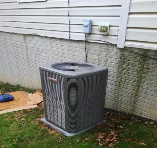 Reisterstown, MD - Working on a Lennox Air Conditioner installation and Furnace installation for a great family in Reisterstown, MD