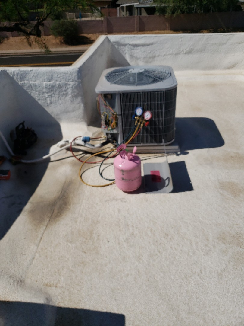 Scottsdale, AZ - Run capacitor replacement and add refrigerant
