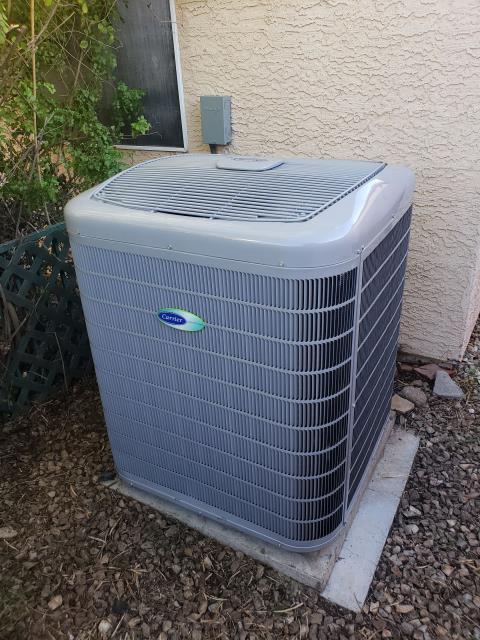 Glendale, AZ - Carrier Greenspeed 4 Ton Infinity Series Split Heat Pump Installation  Highest Efficiency, Total Comfort Infinity Series Variable Speed Compressor Variable speed Indoor Motor