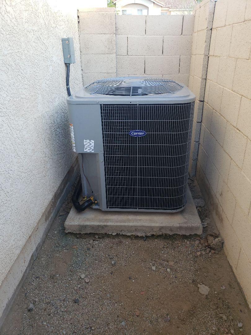 Mesa, AZ - Installation of 16 Seer Carrier Furnace/Air Conditioner