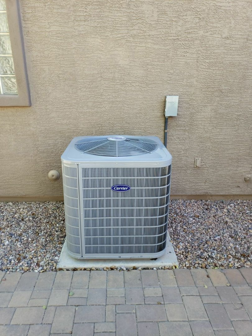 Chandler, AZ - Installation of Carrier 16 SEER 2 STAGE Air Conditioner and Furnace