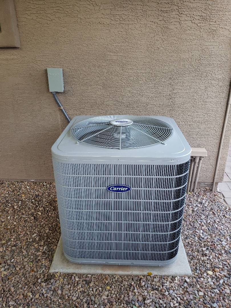 Chandler, AZ - Installation of 2 Stage 16 SEER Carrier Air Conditioner and Furnace