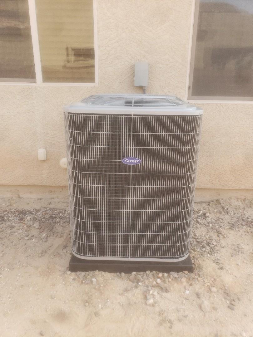 Goodyear, AZ - Installation of Carrier 15 SEER Split System Air Conditioner