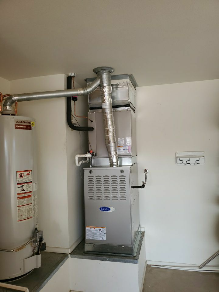 Sun City West, AZ - Installation of Carrier 16 SEER Gas Furnace and Air Conditioner