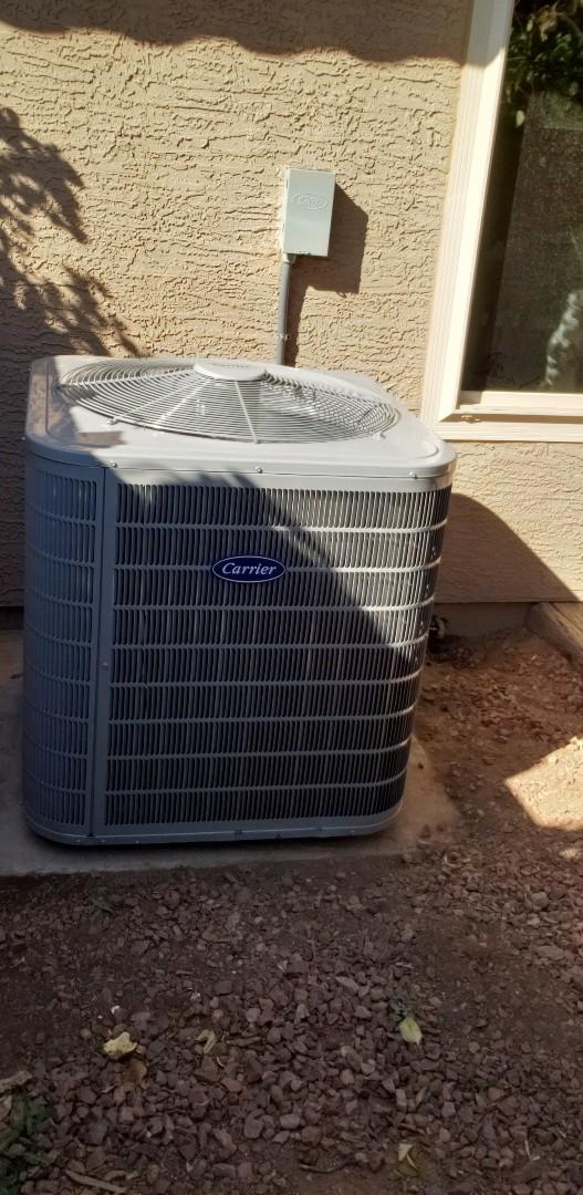 Glendale, AZ - Installation of 16 SEER 2 Stage Carrier Heat PumpGlendale HVAC 85308
