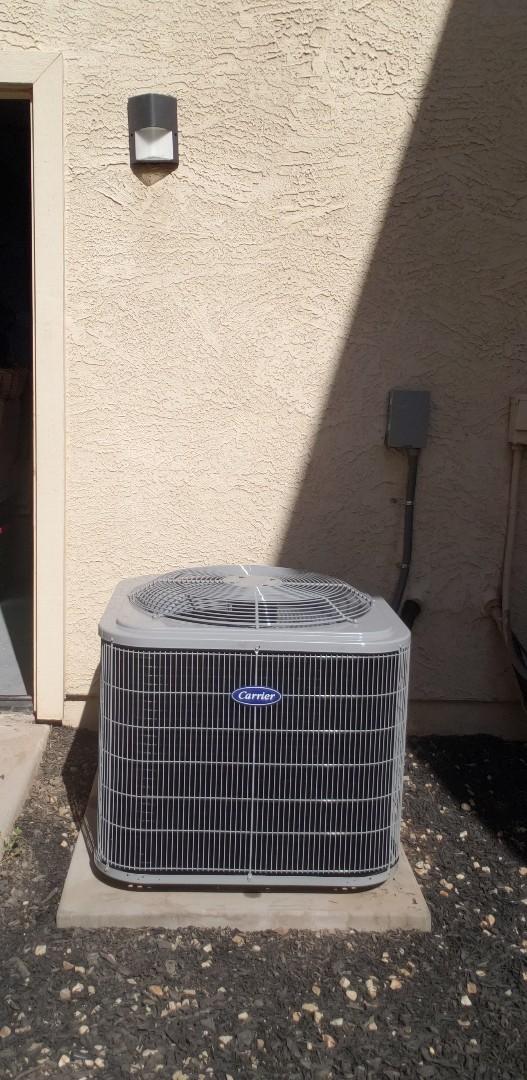 Glendale, AZ - Installation of Carrier 14 SEER Split System Heat Pump