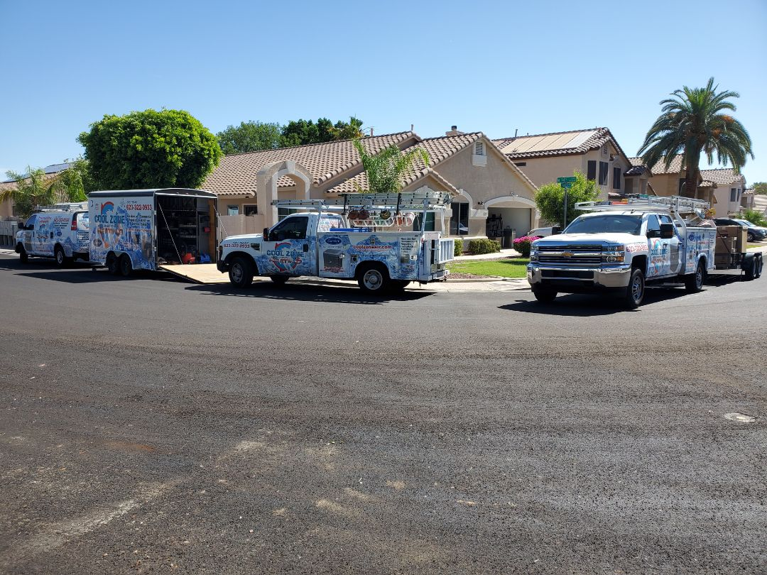 Glendale, AZ - Two 16 SEER systems being installed. It rake a lot of work to do it right!