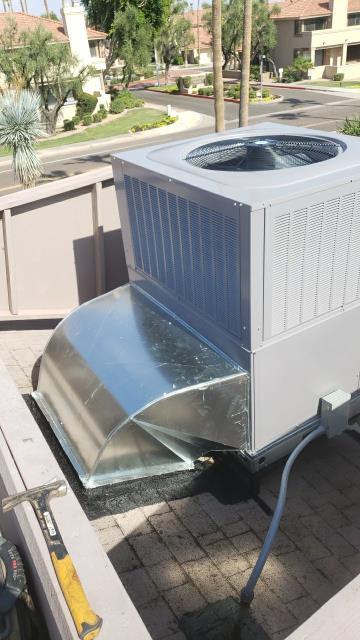 Scottsdale, AZ - carrier 2 stage package heat pump installation