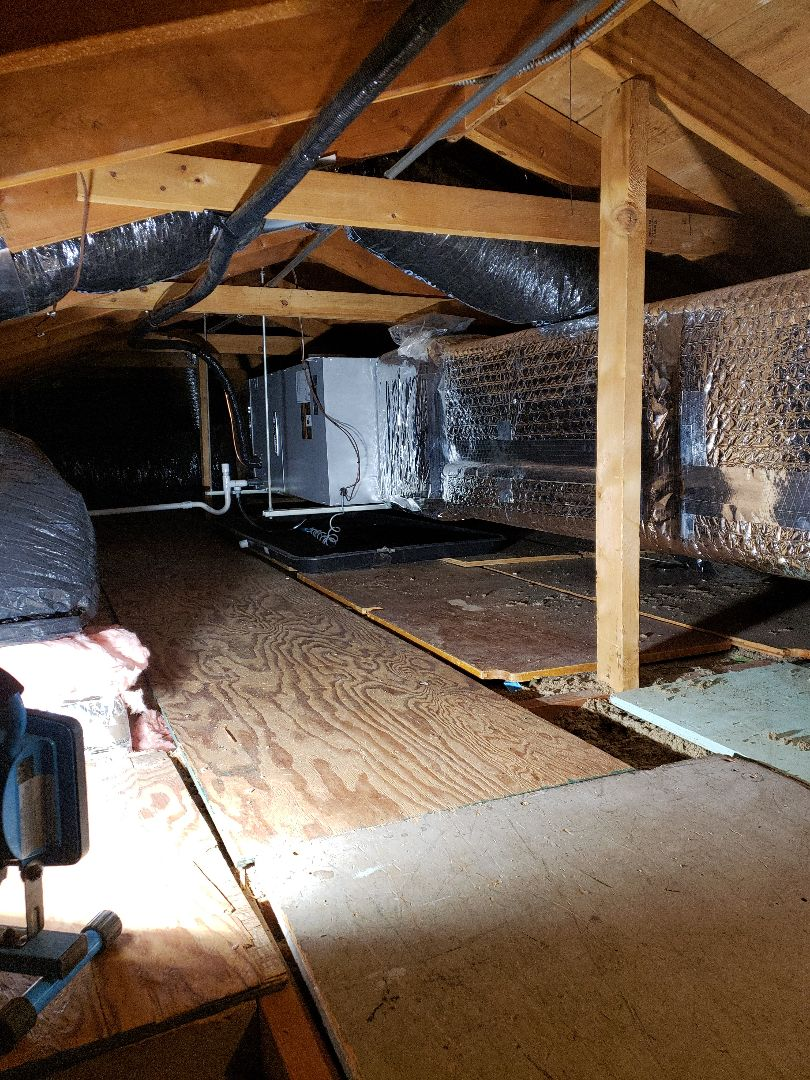 Greendale, WI - Air handler (central air conditioning system) install