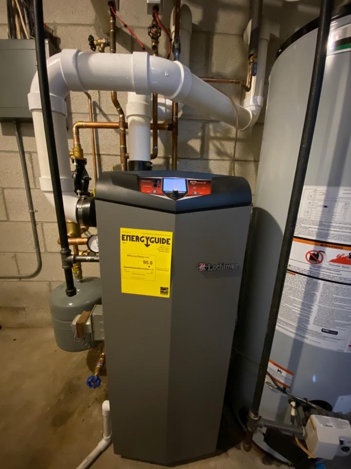 Hartland, WI - First Choice Heating boiler installation. Lochinvar high efficiency boiler system.