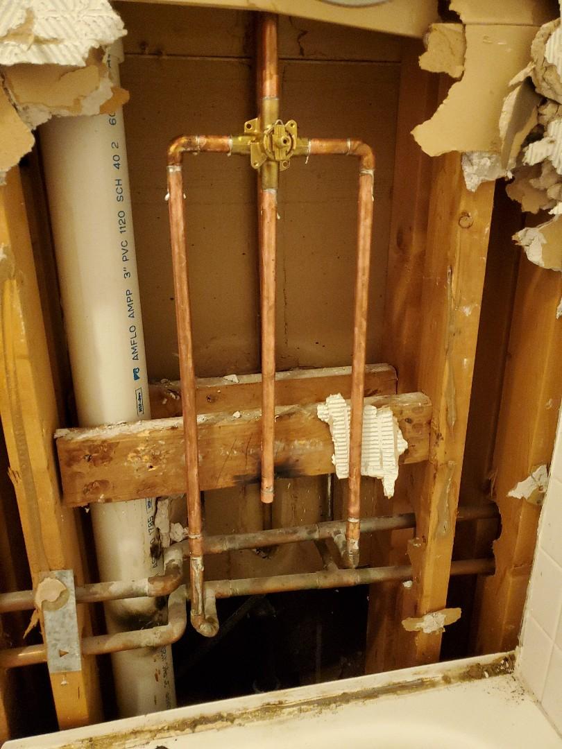New shower valve
