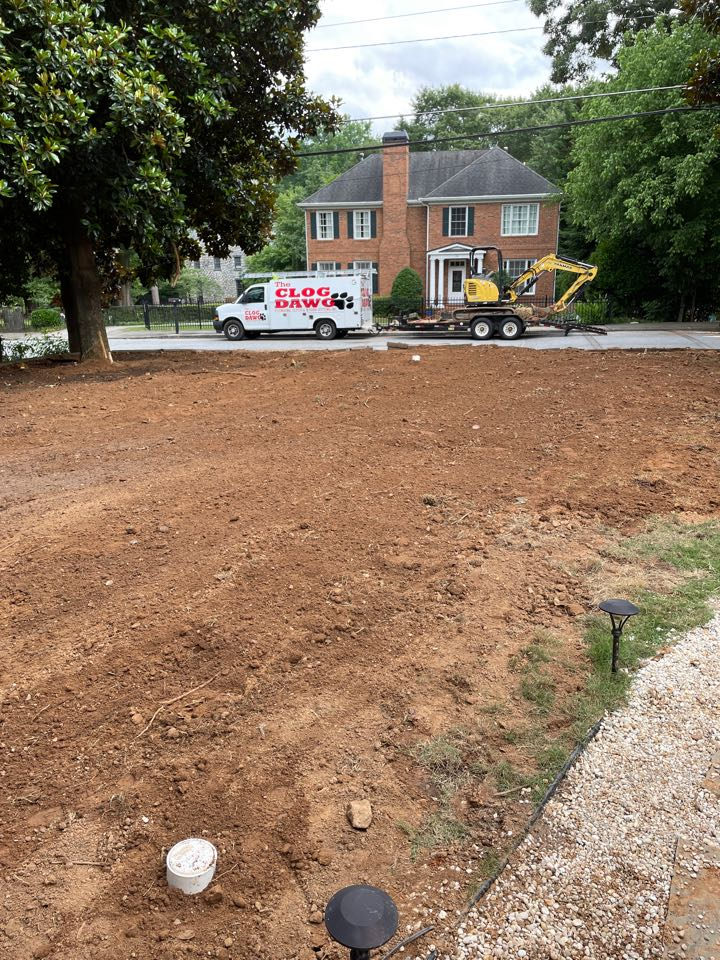 Atlanta, GA - Replaced main line from house to street Very deep job for digging 12 feet at the house approximately 14 feet at the street weather impeded us the Clog Dawg got the job done