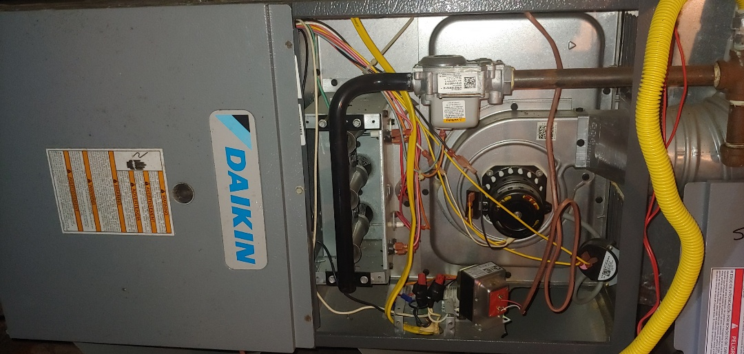 Katy, TX - Heating Check up on DAIKIN Gas Furnace.
