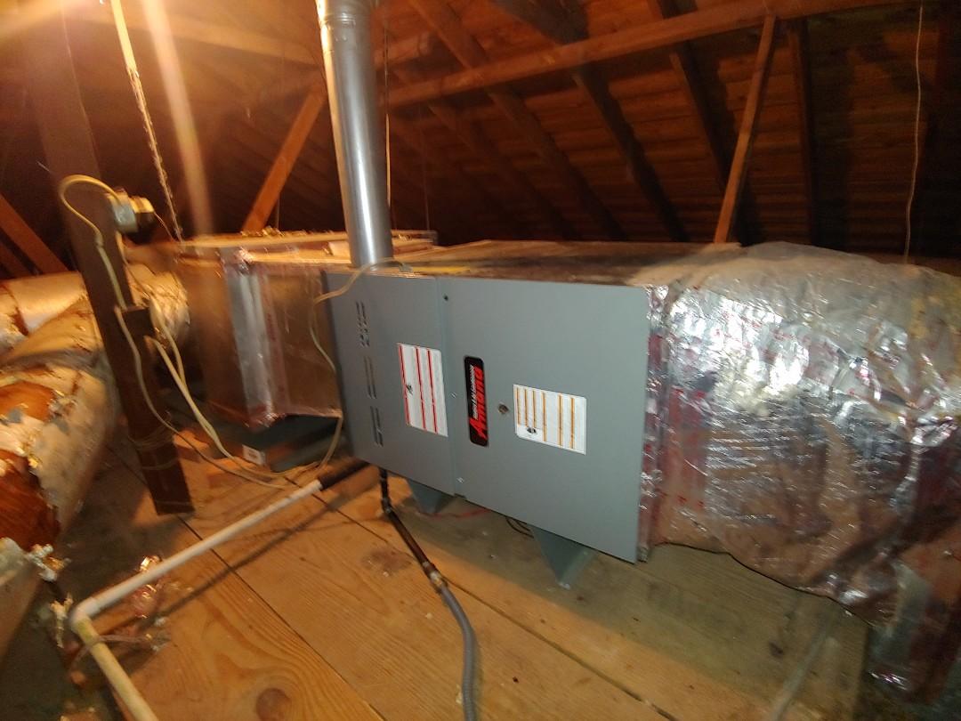 Houston, TX - Heat inspection on a Trane furnace