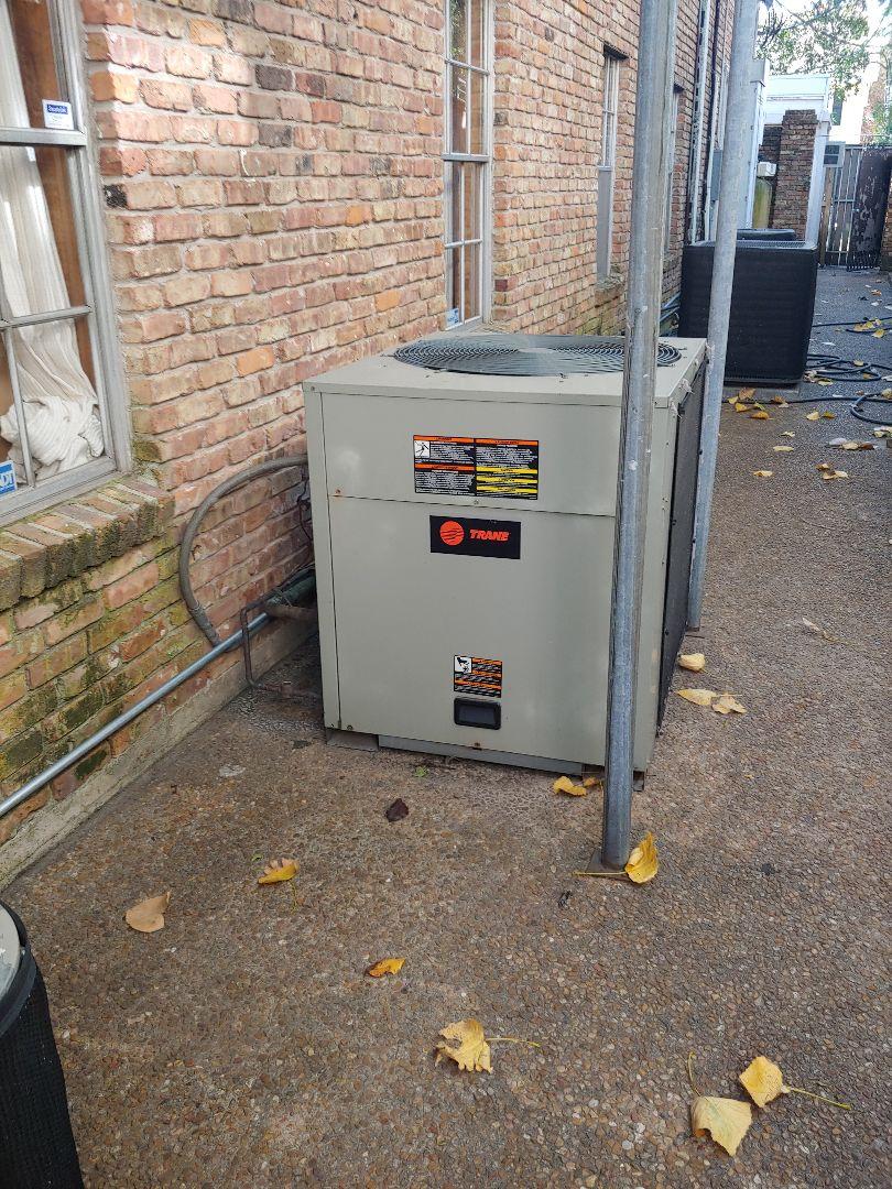 Houston, TX - A/C maintenance on Trane equipment