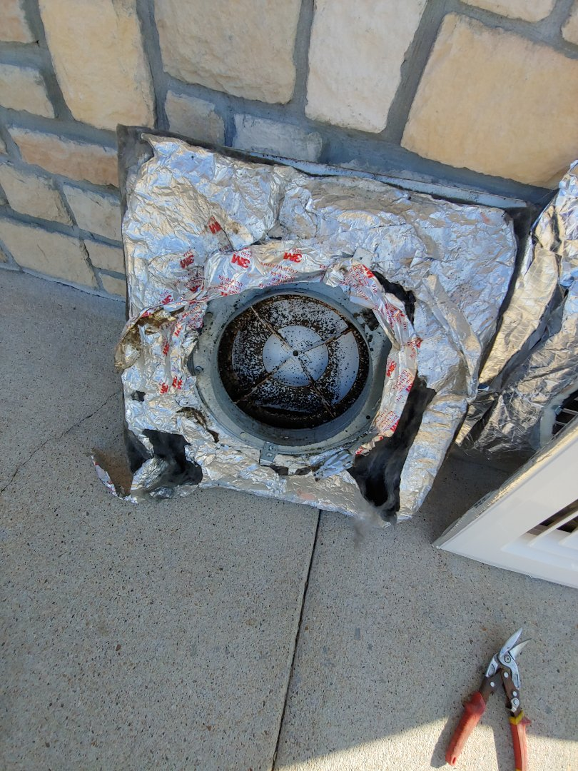 Houston, TX - Repalce rusty AC supply vents