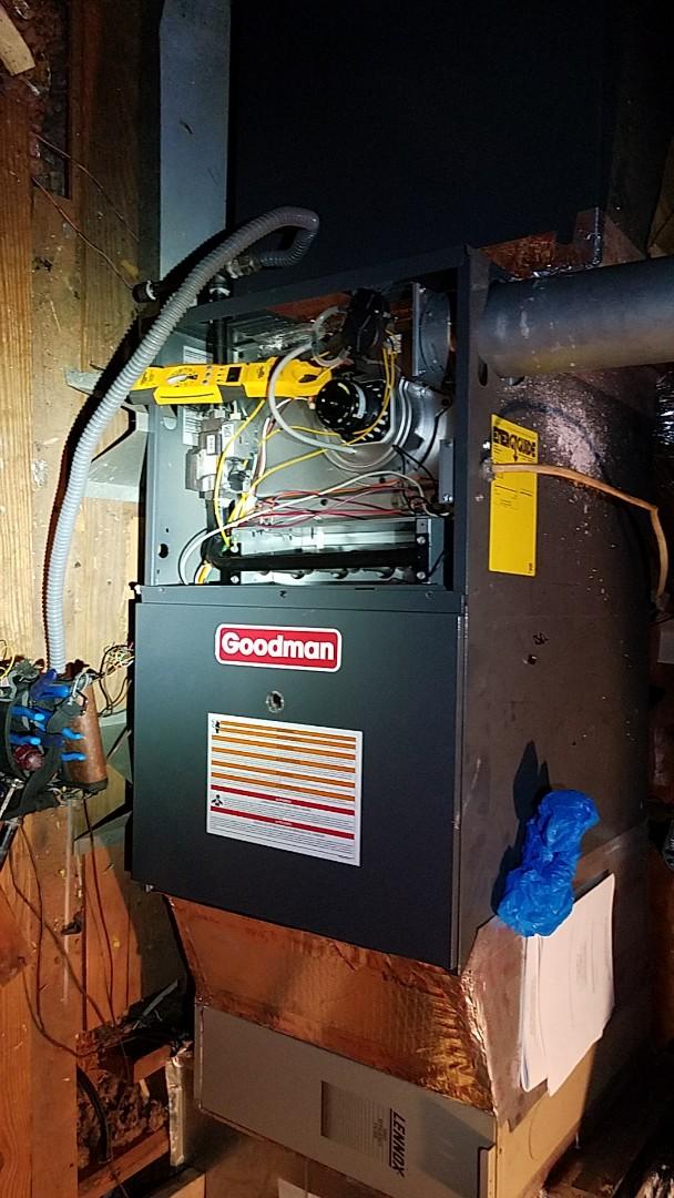 Katy, TX - Performed Heat & safety maintenance on Goodman system in Katy
