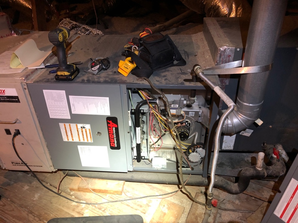 Performed furnace heating repair on Amanda system
