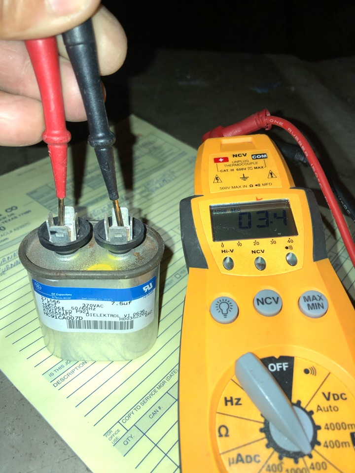 Performed capacitor check