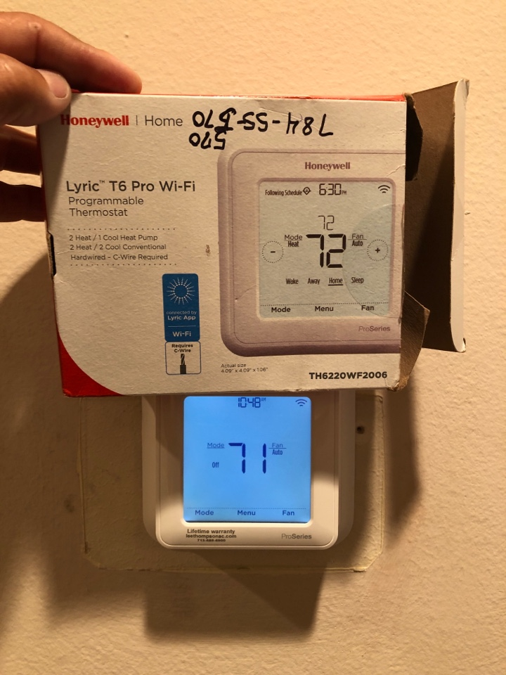 Houston, TX - Performed new wi-if thermostat installation