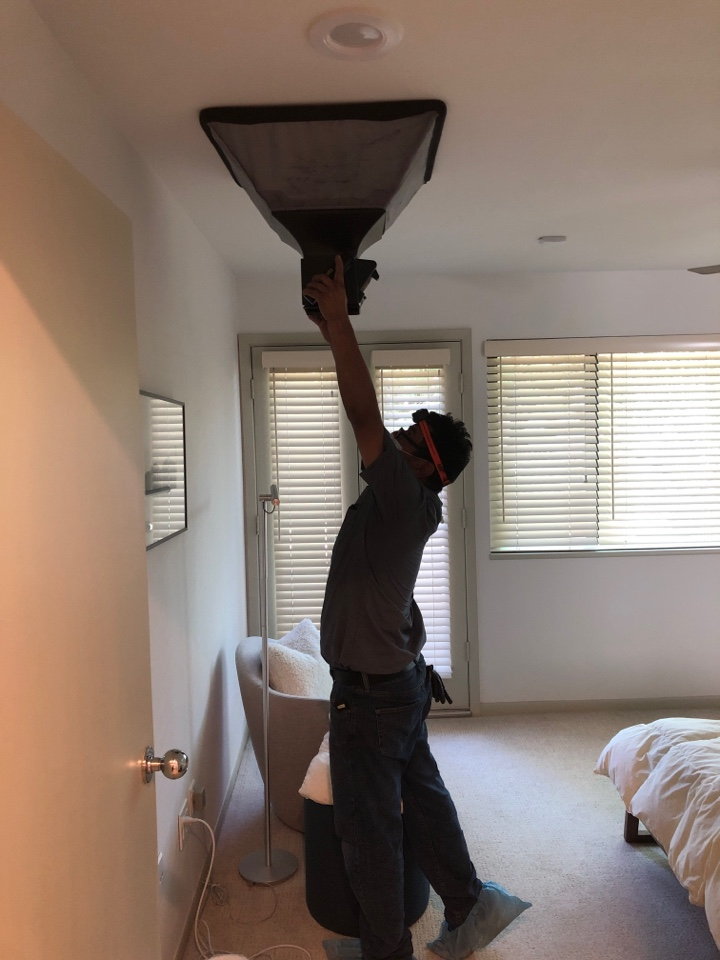 Houston, TX - Performed air flow test, checking each room for cooling