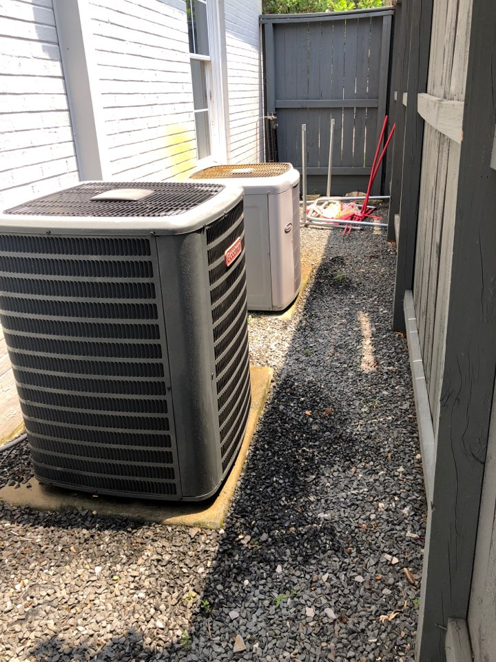 Houston, TX - Performed hvac maintenance for cooling on two systems