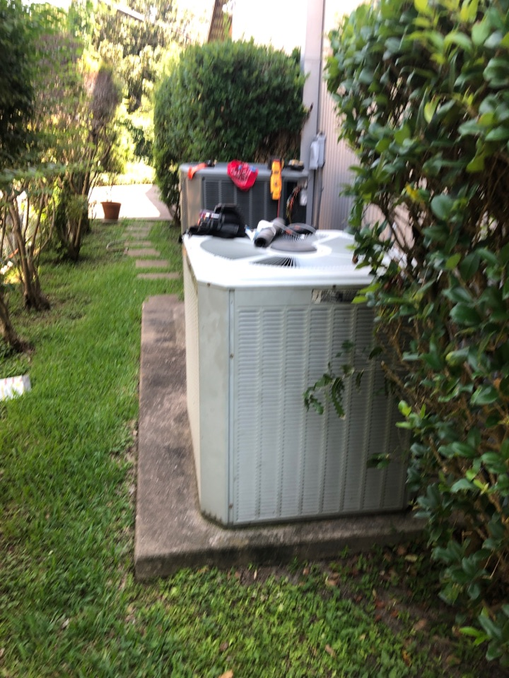 Houston, TX - Performed hvac maintenance for cooling systems on two Trane systems