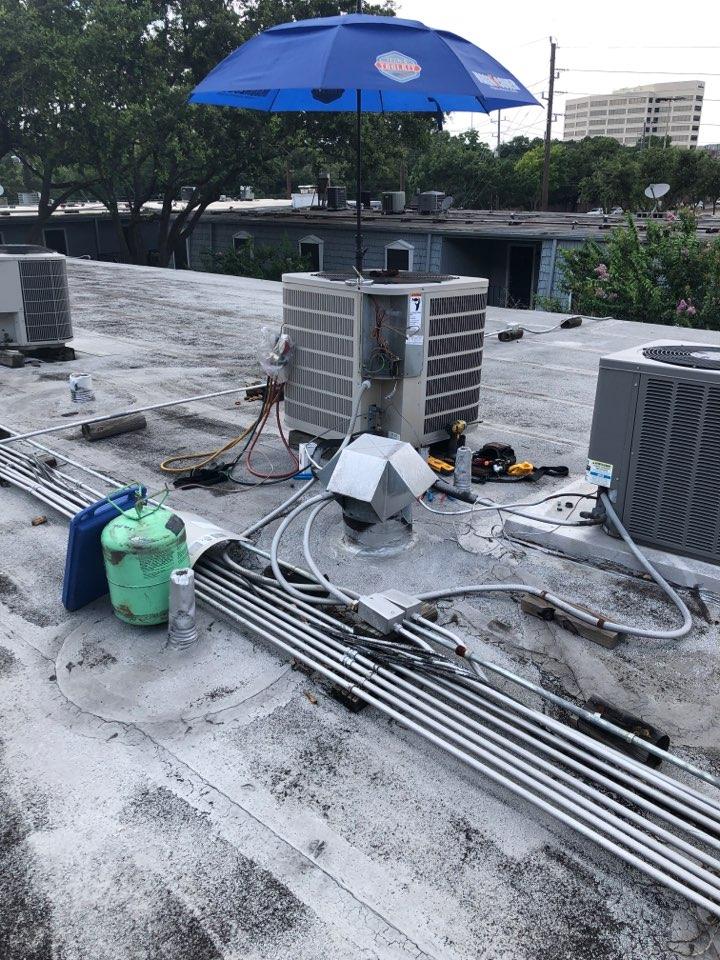 Houston, TX - Performed hvac repair for outdoor Goodman system