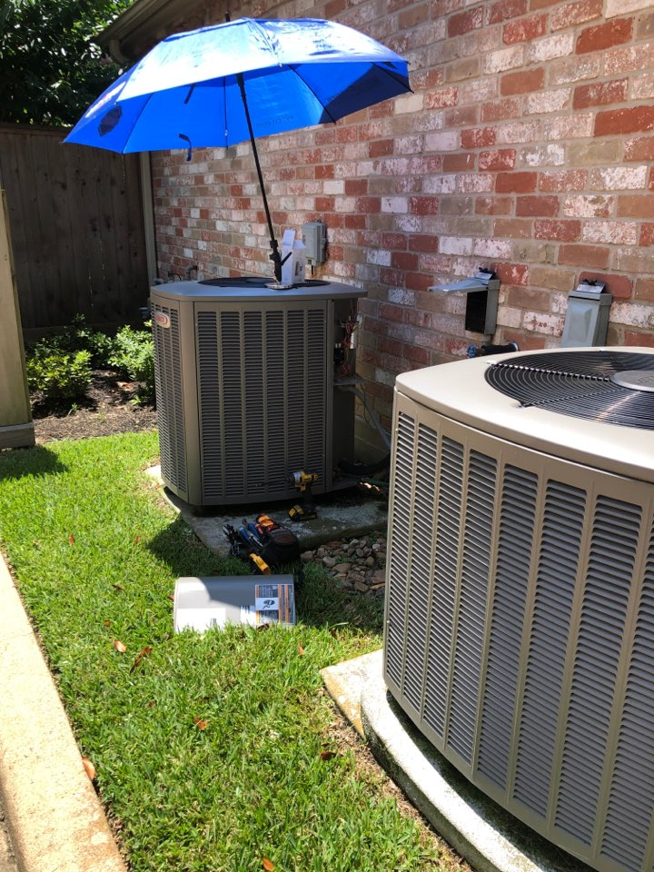 Houston, TX - Performed hvac maintenance for cooling on two Lennox systems