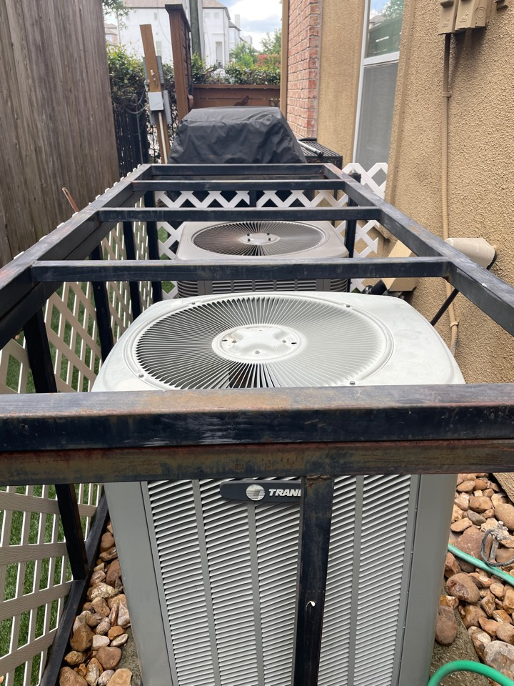Houston, TX - Performed hvac maintenance for cooling on two outdoor and indoor systems