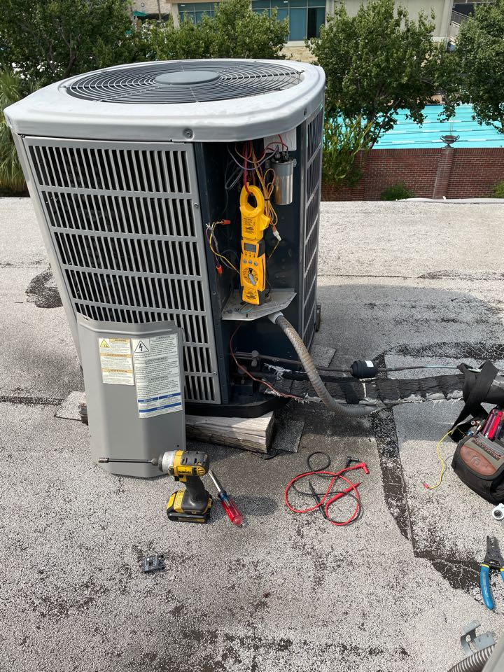 Houston, TX - Performed hvac repair on American Standard outdoor system, now our client will be cool