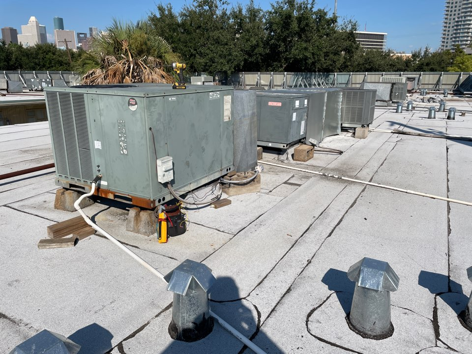 Houston, TX - Performed routine maintenance on two roof top systems