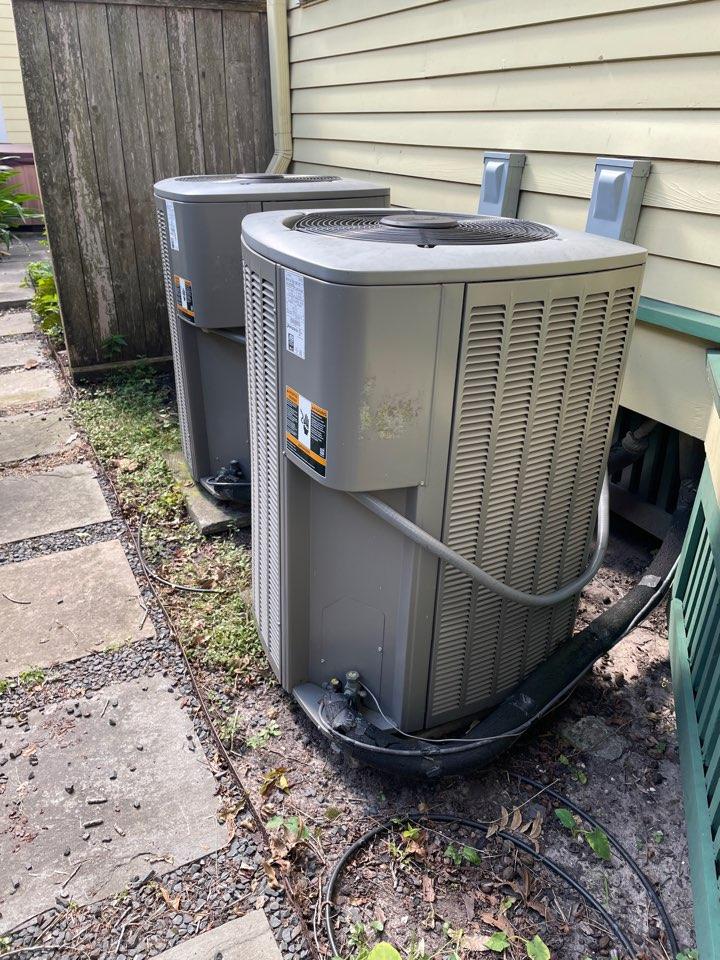 Houston, TX - On site for leak check for Lennox system.