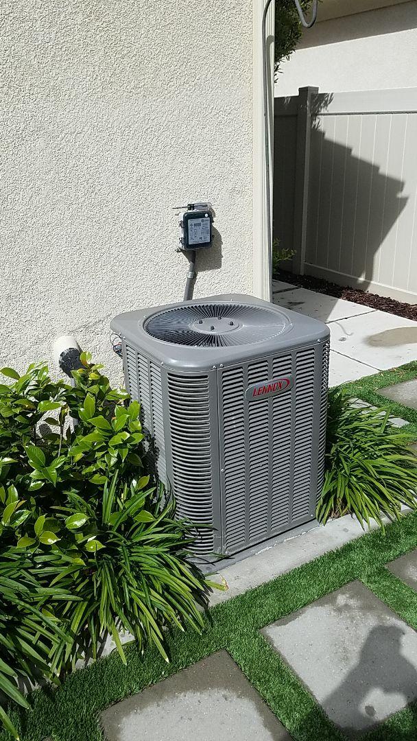 Hemet, CA - Cooling maintenance on a Lennox system in Hemet