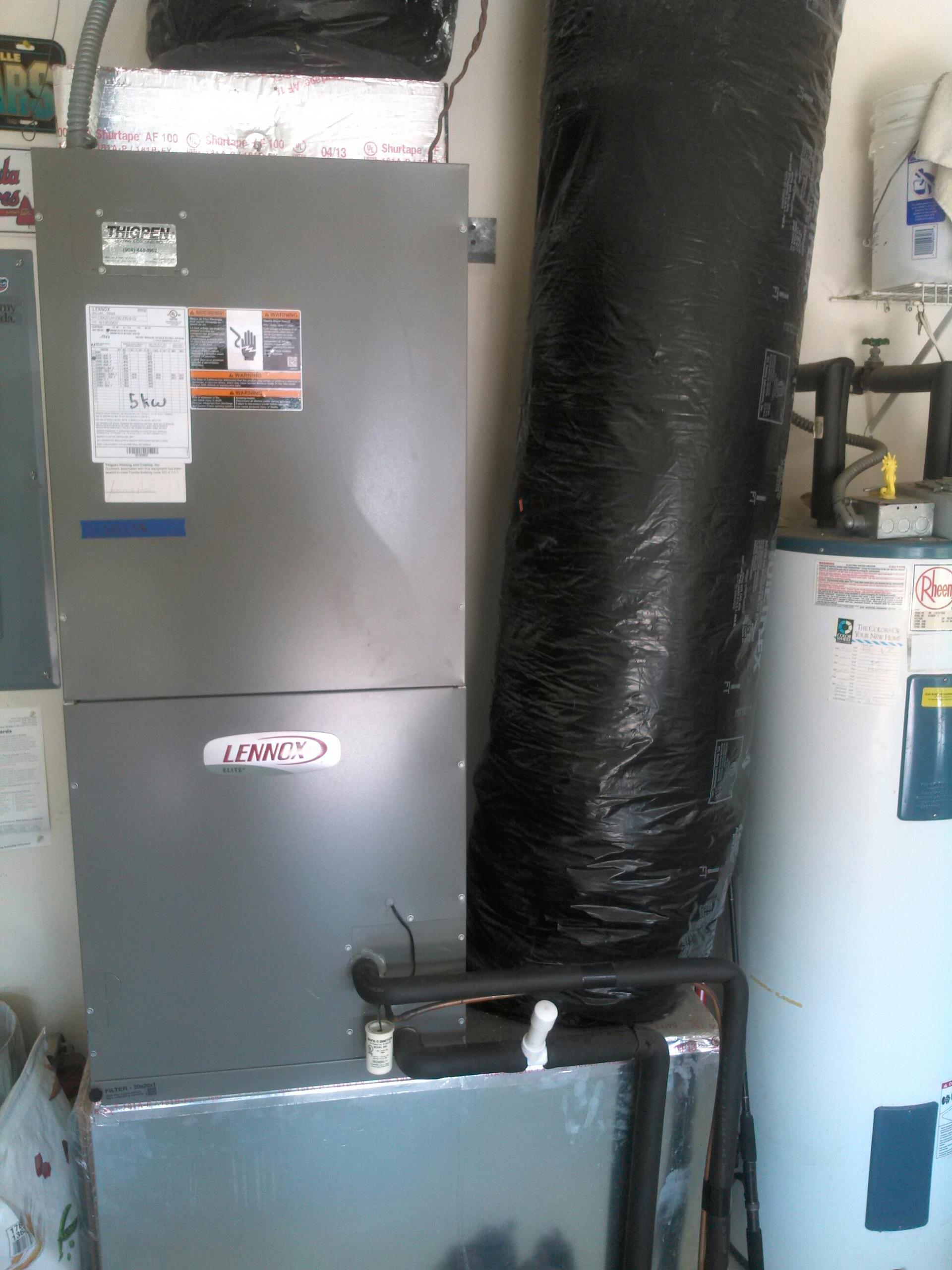 Middleburg, FL - Performed preventative maintenance on one Lennox unit. Cleaned coils, check amp draw on fan motors and compressor. Cleaned drainline with shop vac. Heat strips working fine, filter is good. Defrost cycle operational.