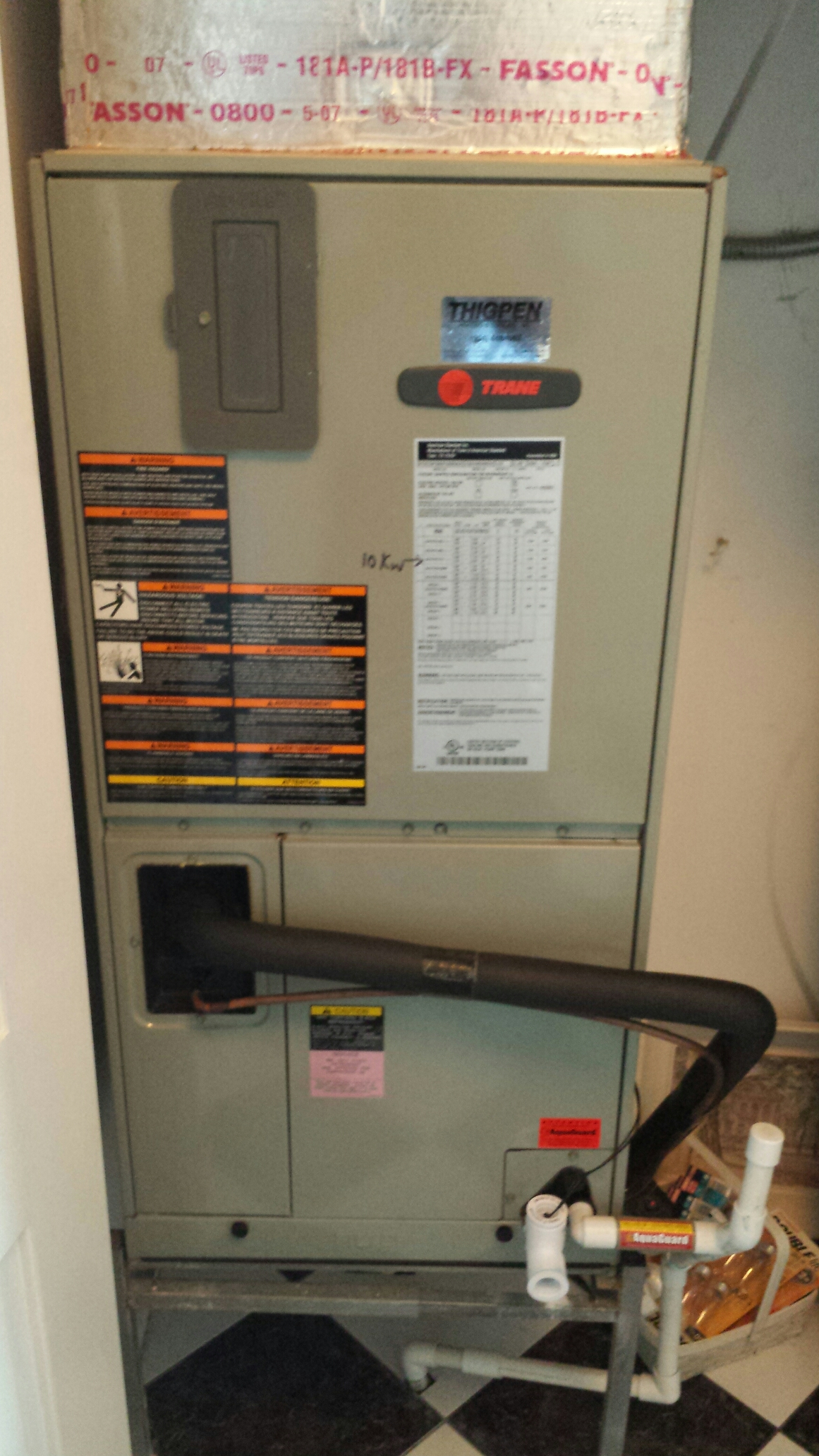 Jacksonville Beach, FL - Tune up maintenance on Trane heat pump.