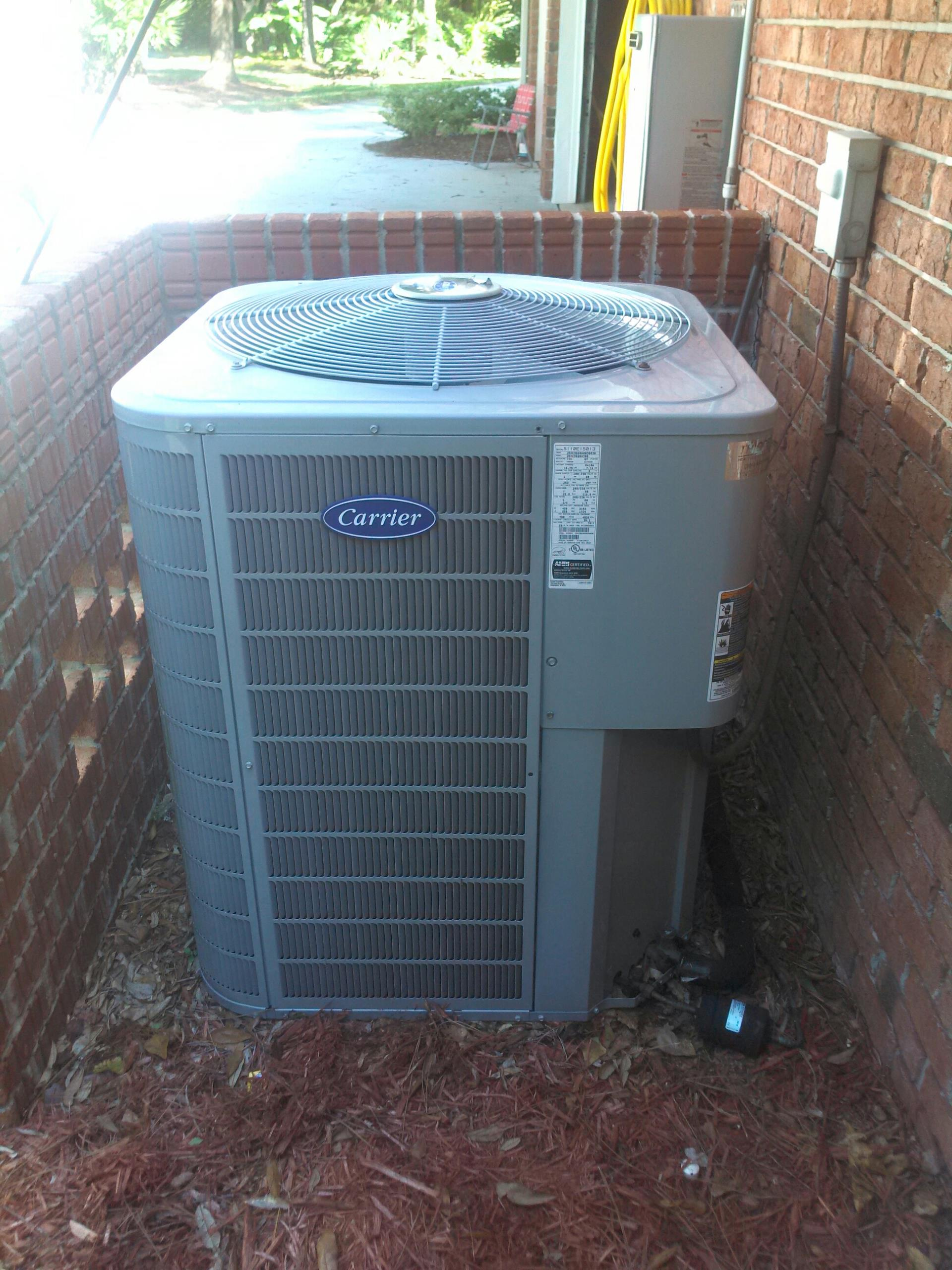 Fruit Cove, FL - Performed maintenance on two heat pump systems.  One Carrier and one Trane