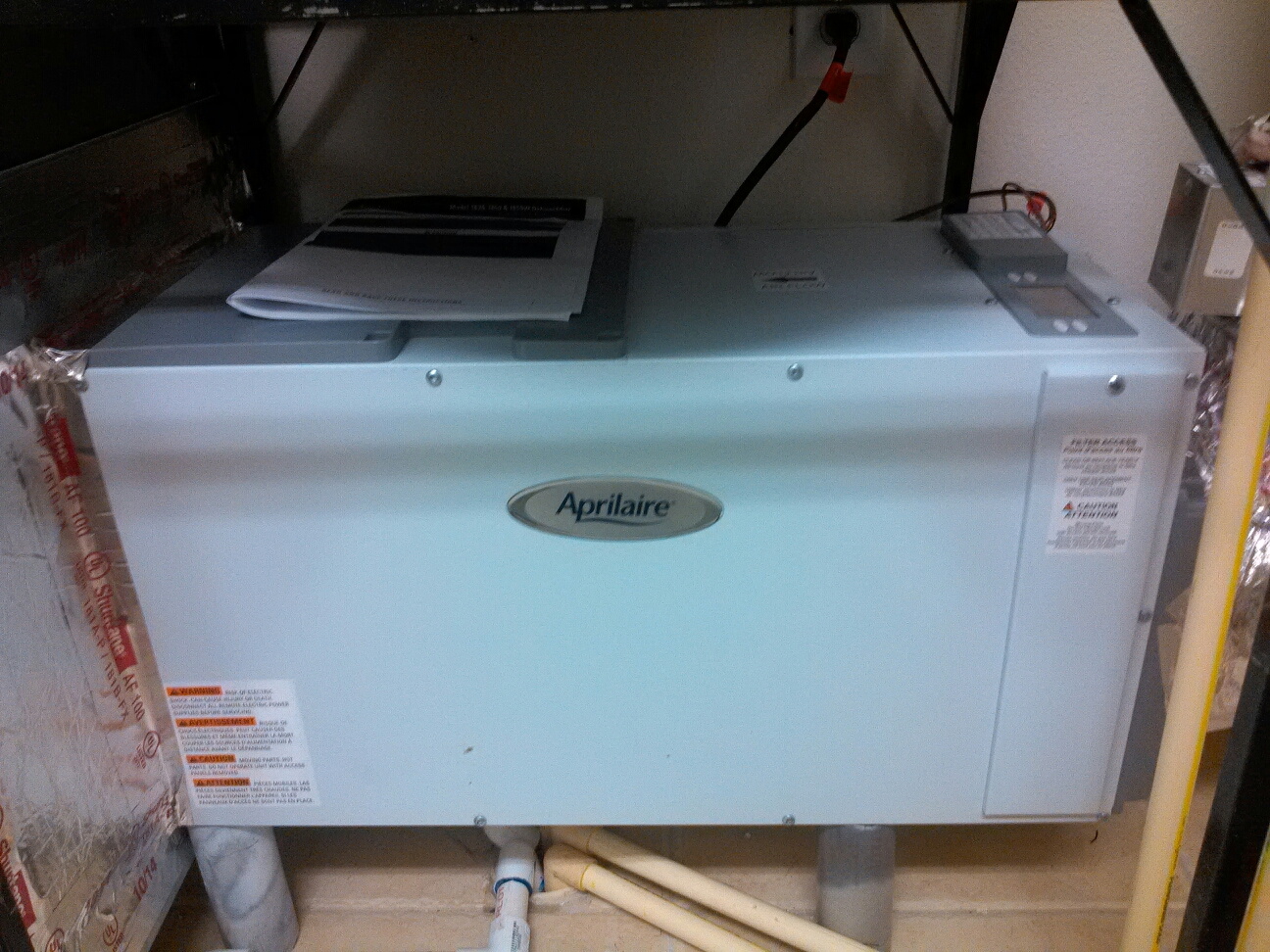 Ponte Vedra Beach, FL - Installation of a new Aprilaire dehumidifier