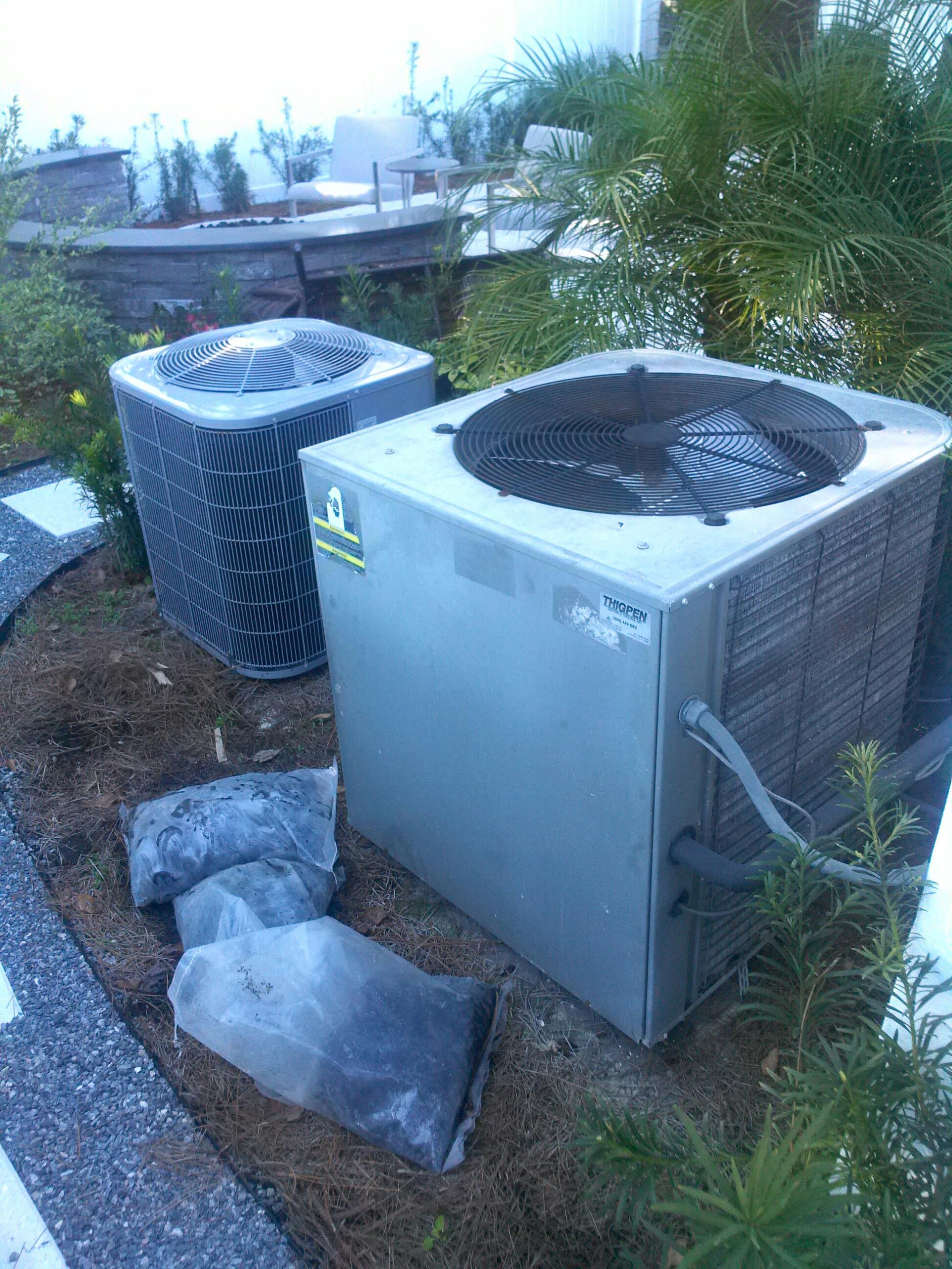 Ponte Vedra Beach, FL - Performed maintenance on two heat pump systems