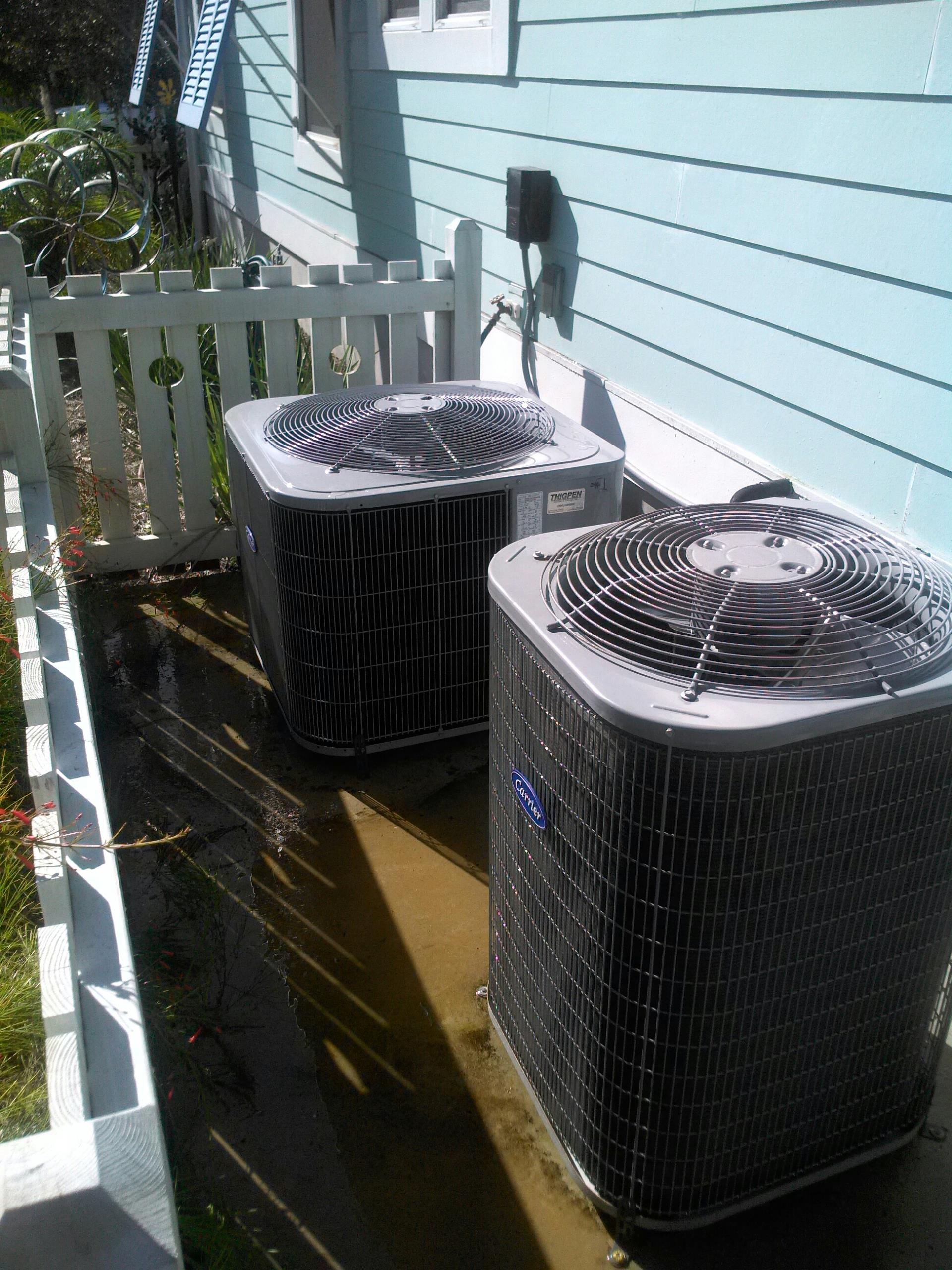 Jacksonville Beach, FL - Performed maintenance on two Carrier heat pump systems