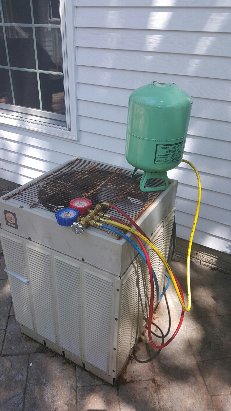 A/ C unit cleaned and check