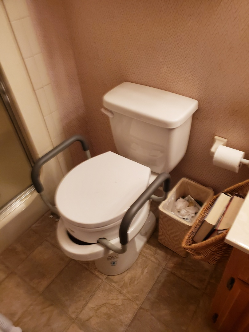 Installed new ADA enlongated toilet