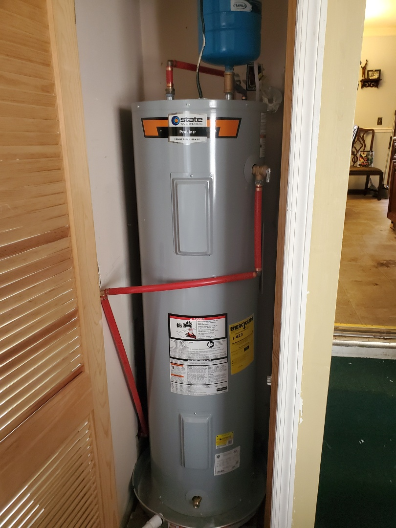 Installed new water heater