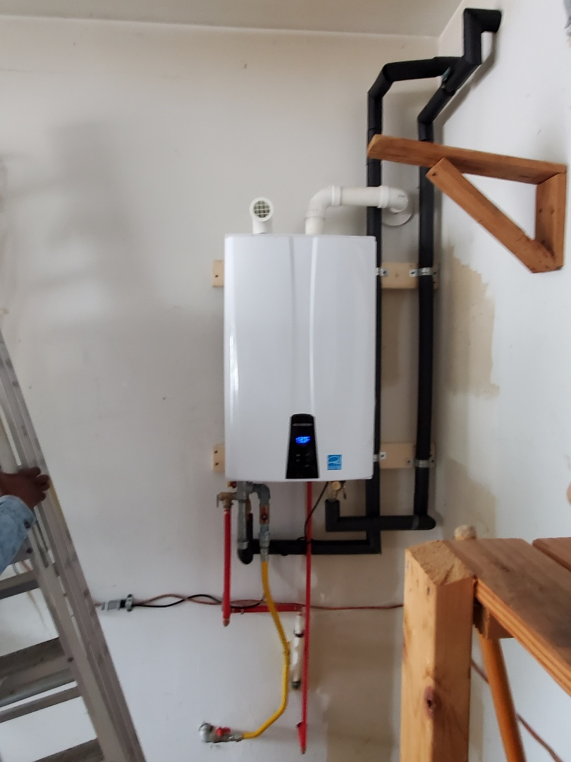 Installed new 180A navien tankless water heater