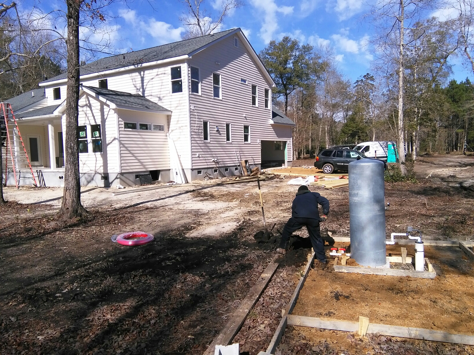 Ravenel, SC - Installing new water service from well to house