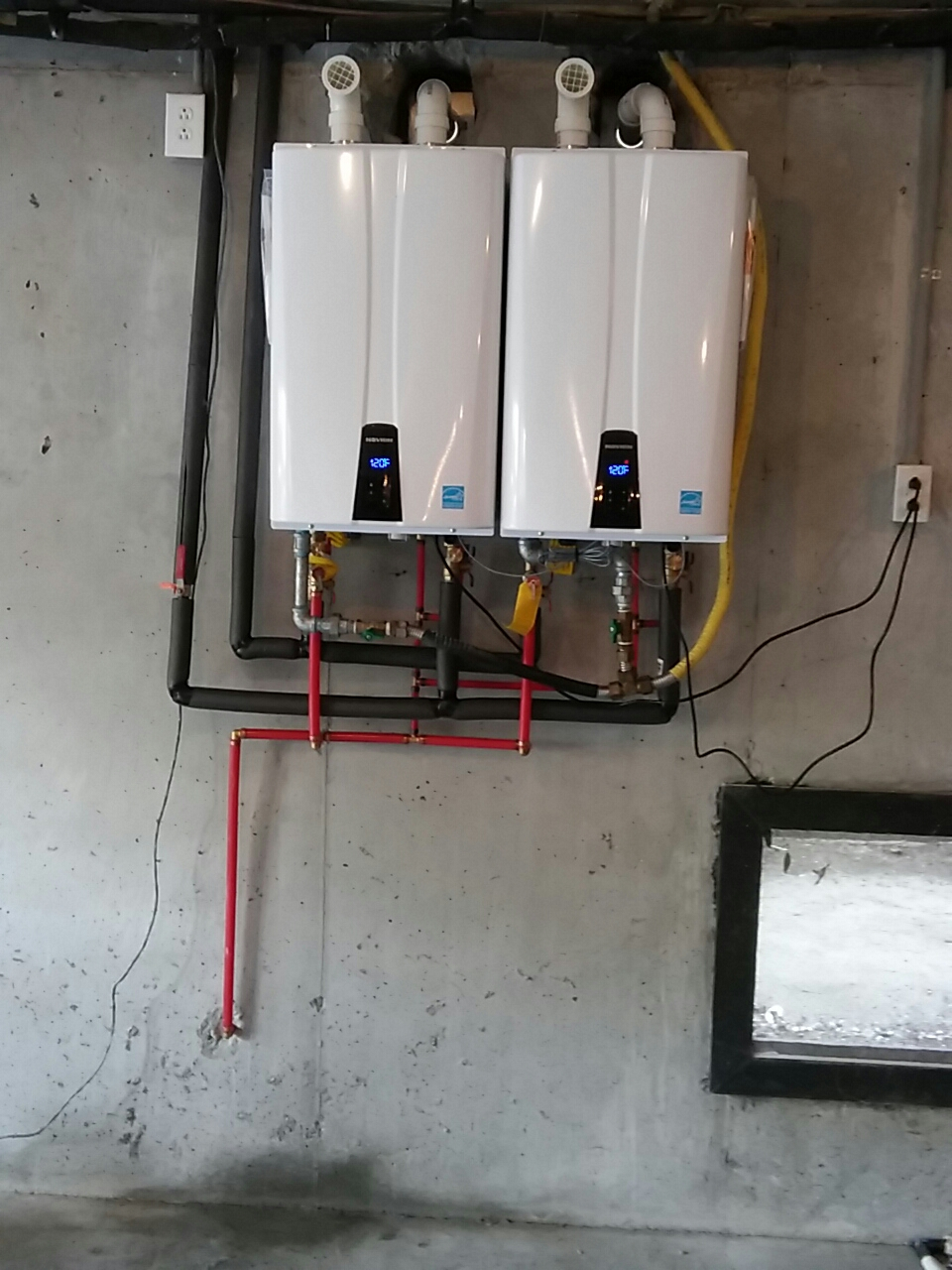 Isle Of Palms, SC - Replaced two tankless rheem water heaters with two navien tankless water heaters